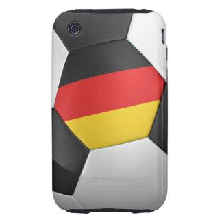 Balón de fútbol de Alemania iPhone 3 Tough Coberturas