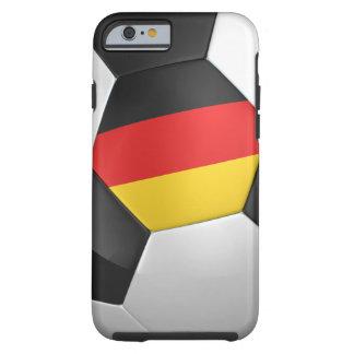 Balón de fútbol de Alemania Funda Para iPhone 6 Tough