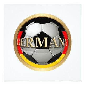 Balón de fútbol de Alemania Invitación 13,3 Cm X 13,3cm