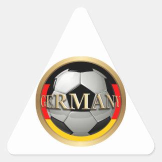 Balón de fútbol de Alemania Calcomania De Trianguladas