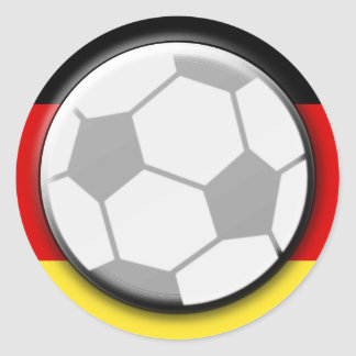 Balón de fútbol de Alemania Etiquetas Redondas
