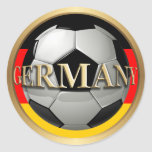 Balón de fútbol de Alemania Pegatina Redonda