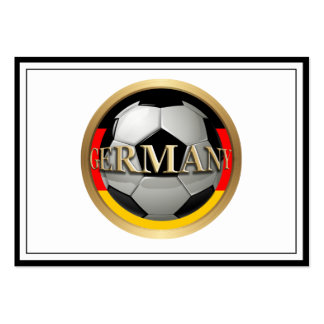Balón de fútbol de Alemania Tarjetas De Visita Grandes