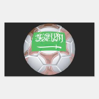 Balón de fútbol de Arabia Saudita Pegatina Rectangular