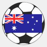 Balón de fútbol de Australia Pegatina Redonda