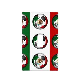 Balón de fútbol de bandera mexicana cubiertas para interruptor