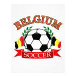 Balón de fútbol de Bélgica Membrete Personalizado