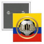 Balón de fútbol de Colombia Pin Cuadrado