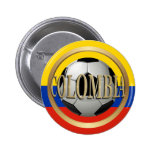 Balón de fútbol de Colombia Pin Redondo De 2 Pulgadas