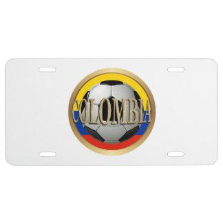 Balón de fútbol de Colombia Placa De Matrícula