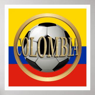 Balón de fútbol de Colombia Póster
