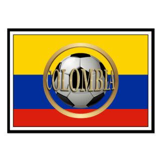 Balón de fútbol de Colombia Tarjetas De Visita Grandes