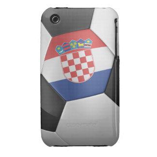 Balón de fútbol de Croacia Case-Mate iPhone 3 Cárcasas