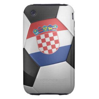 Balón de fútbol de Croacia iPhone 3 Tough Protector