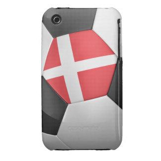 Balón de fútbol de Dinamarca Case-Mate iPhone 3 Protectores