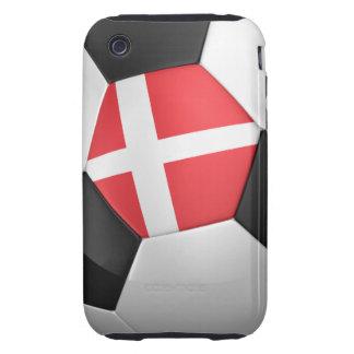 Balón de fútbol de Dinamarca Tough iPhone 3 Cárcasas
