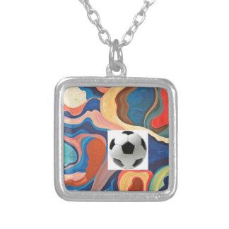 Balón de fútbol de herradura colgante cuadrado