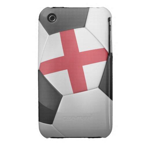 Balón de fútbol de Inglaterra iPhone 3 Case-Mate Cárcasas