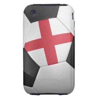 Balón de fútbol de Inglaterra Tough iPhone 3 Cobertura