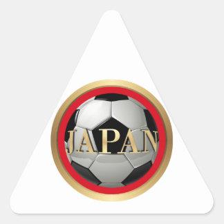Balón de fútbol de Japón con el marco de oro Calcomania Triangulo