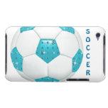 Balón de fútbol de la aguamarina de las piedras pr iPod touch cárcasas