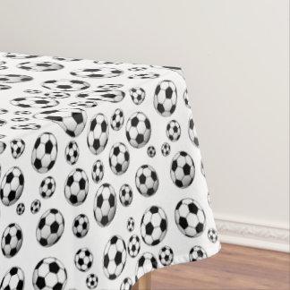 Balón de fútbol de la decoración manteles
