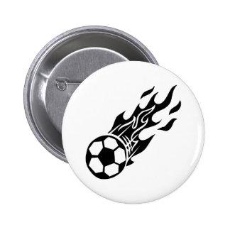 Balón de fútbol de la llama pin redondo 5 cm