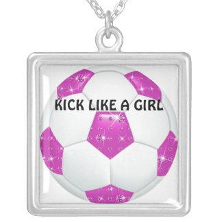 Balón de fútbol de las rosas fuertes de las piedra colgante cuadrado