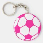 Balón de fútbol de las rosas fuertes llaveros personalizados