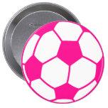 Balón de fútbol de las rosas fuertes pin redondo 10 cm