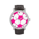 Balón de fútbol de las rosas fuertes relojes de mano