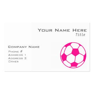 Balón de fútbol de las rosas fuertes tarjetas de visita