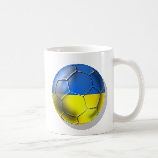 Balón de fútbol de los Amarillo-Azules de Ucrania Taza