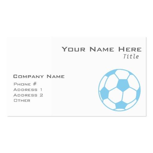 Balón de fútbol de los azules cielos tarjetas de visita