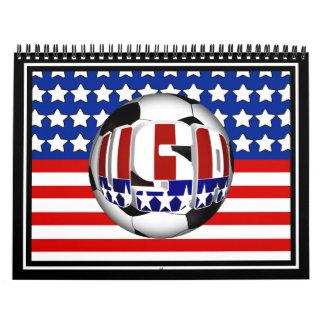 Balón de fútbol de los E.E.U.U. Calendario