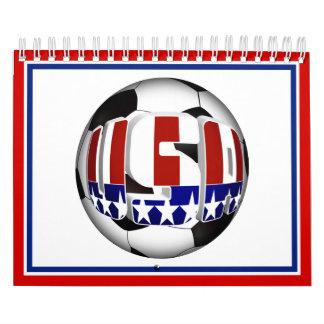 Balón de fútbol de los E.E.U.U. Calendario De Pared