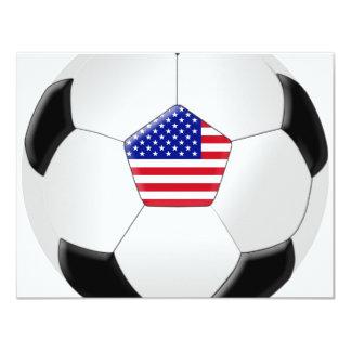 "Balón de fútbol de los E.E.U.U. Invitación 4.25"" X 5.5"""