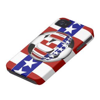 Balón de fútbol de los E.E.U.U. iPhone 4 Carcasa