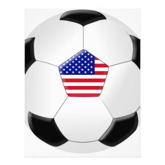 Balón de fútbol de los E E U U Plantilla De Membrete