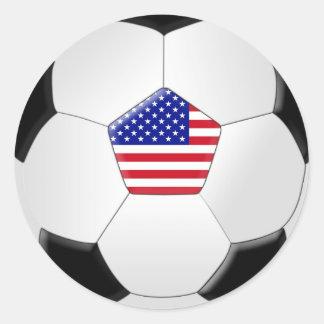 Balón de fútbol de los E E U U Pegatina