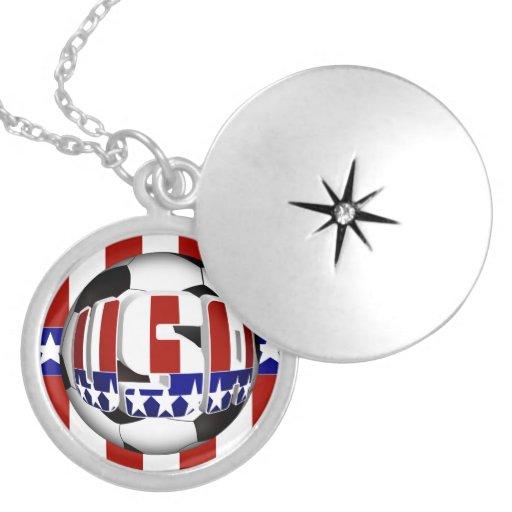 Balón de fútbol de los E.E.U.U. Pendiente