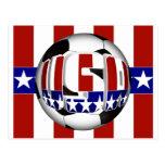 Balón de fútbol de los E.E.U.U. Postal