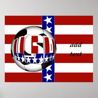 Balón de fútbol de los E.E.U.U. Póster