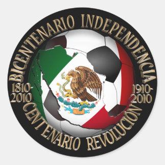 Balón de fútbol de México Pegatina Redonda