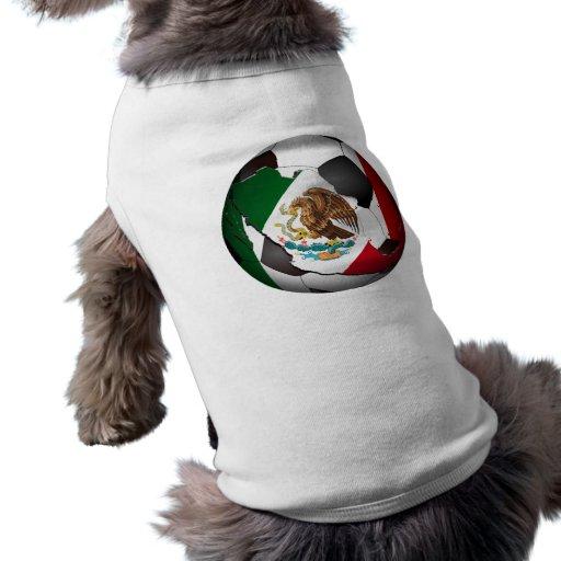 Balón de fútbol de México Playera Sin Mangas Para Perro