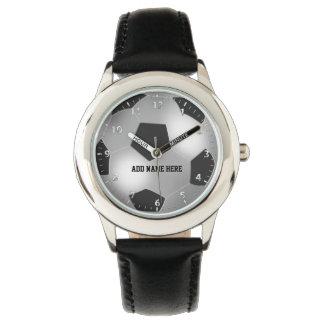 Balón de fútbol de plata adaptable relojes de mano