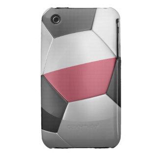 Balón de fútbol de Polonia Case-Mate iPhone 3 Protectores
