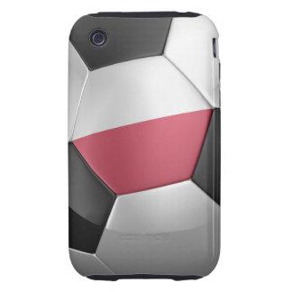 Balón de fútbol de Polonia Tough iPhone 3 Protector