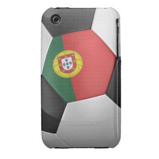 Balón de fútbol de Portugal iPhone 3 Carcasas