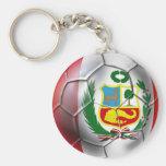 Balón de fútbol de Rojiblanca del La de Blanquirro Llavero